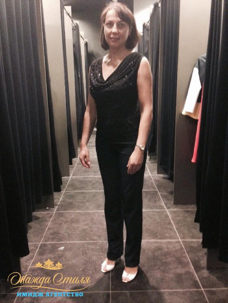 Елена до шоппинга со стилистом