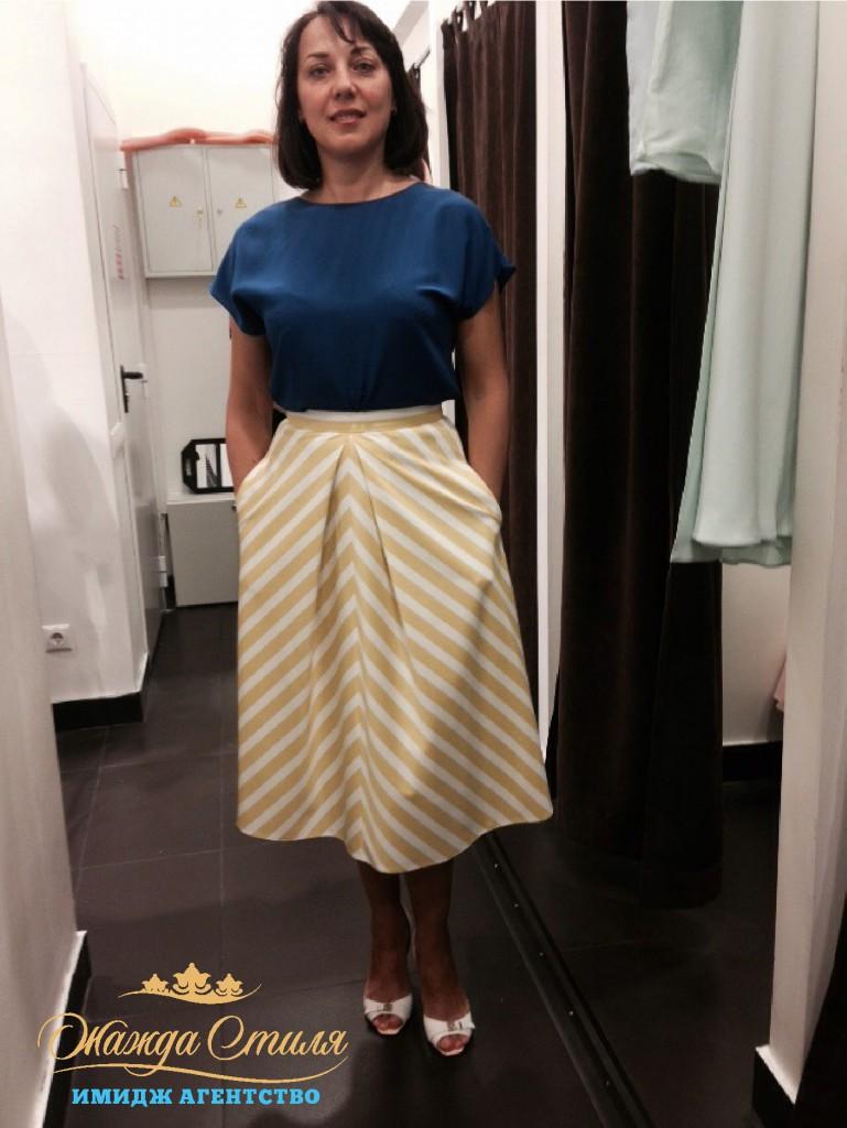 Елена после шоппинга со стилистом