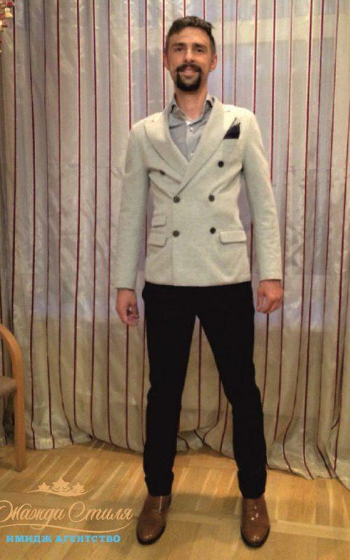 Денис после шоппинга со стилистом