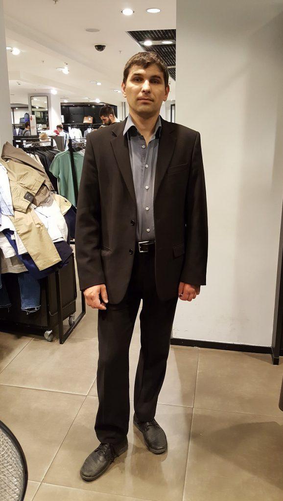 Андрей до шоппинга со стилистом