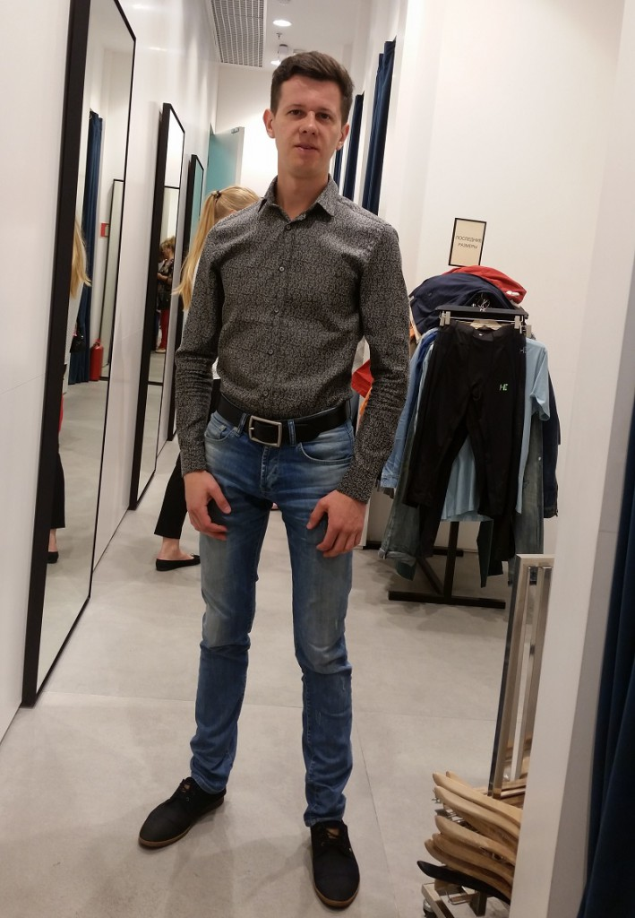 Николай до шоппинга со стилистом