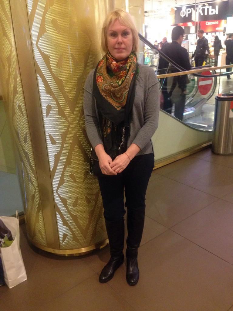 Ольга до шоппинга со стилистом