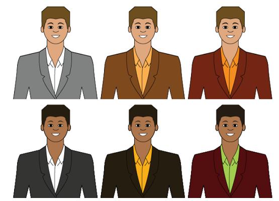 Сочетание в одежде для типажа средней контрастности