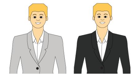 Сочетание в одежде для неконтрастного типажа