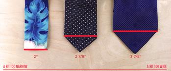 ширина галстука как выбрать