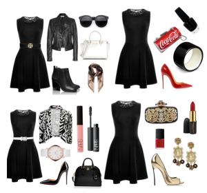Черное платье для фигуры прямоугольник