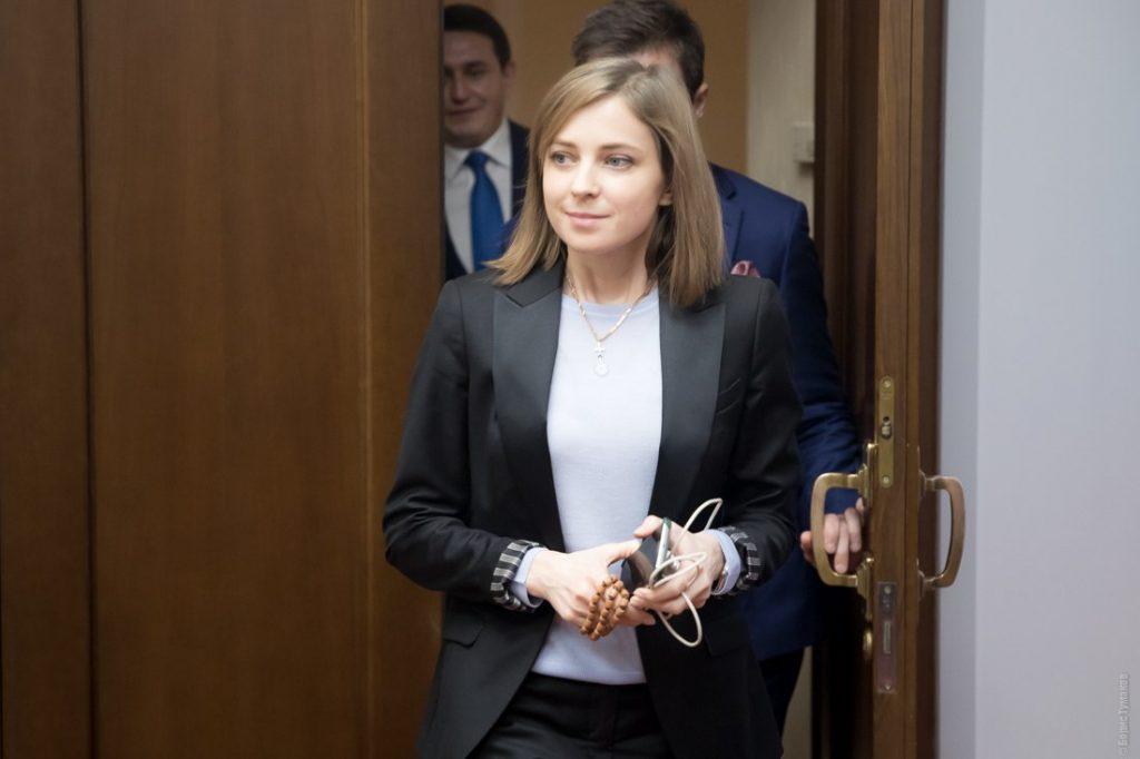 Наталья Поклонская в деловой костюме от стилистов Жажда Стиля