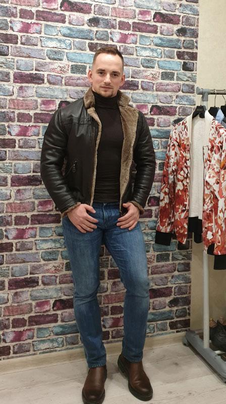 Как носить кожаную куртку с мехом