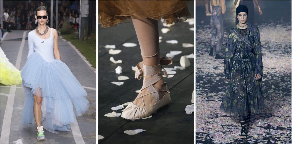 тренд весна 2019 обувь с лентой