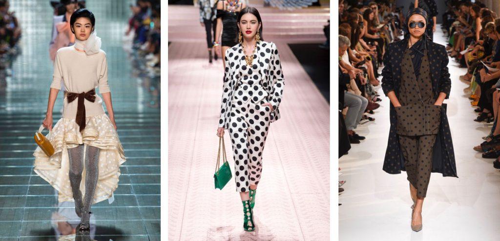 Мода весна 2019 горох